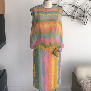 Vintage printed dress from the 60's.super cool